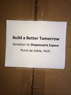 BBT Med supplies for small clinic, Haiti 4--
