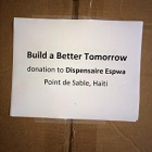 BBT Med supplies for small clinic, Haiti 4--